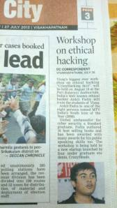 Deccan Chronicle coverage