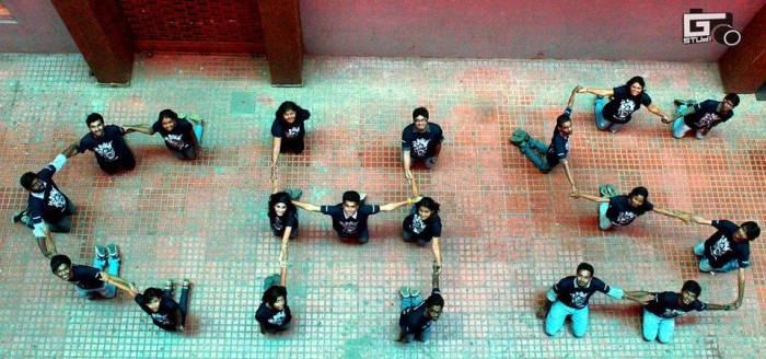 A formation of CHS depicting CrazyHeadS by the team