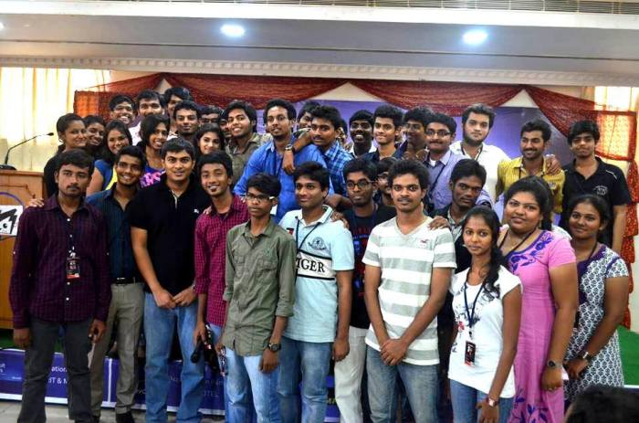 Team CHS with Ankit Fadia during CrazyHacking 2k13