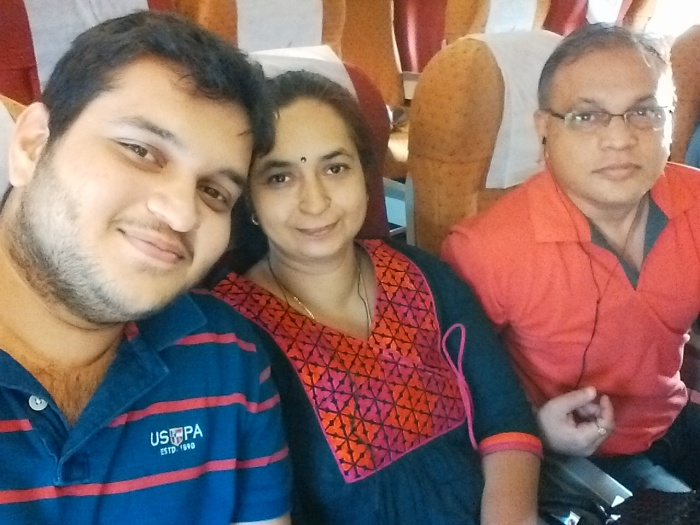 The family en route to Delhi