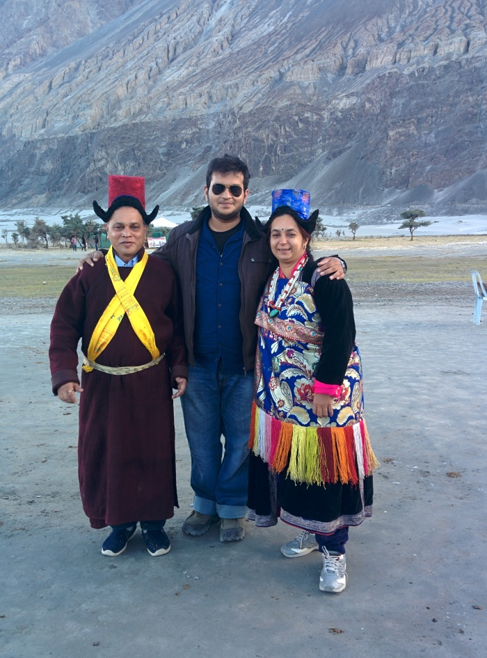 Dad and Mom donned the traditional Ladakhi dresses